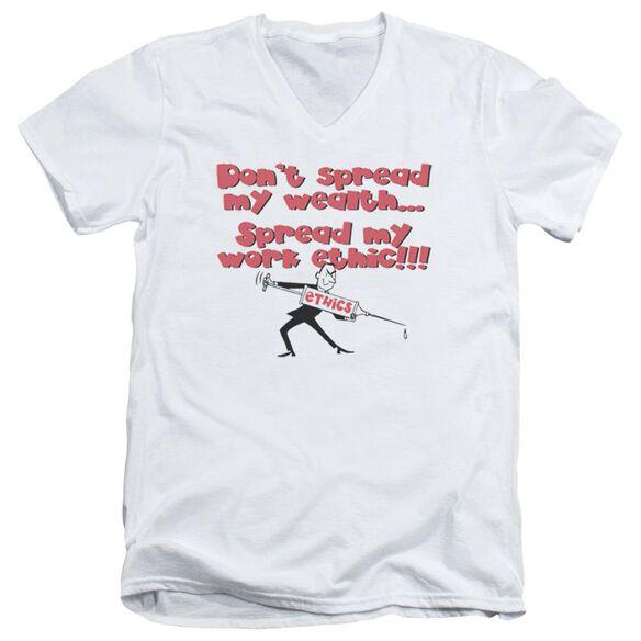 Work Ethic Short Sleeve Adult V Neck T-Shirt