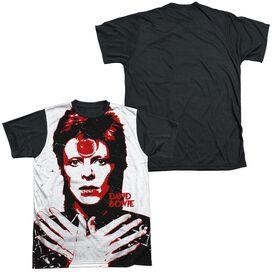 David Bowie Piercing Gaze Short Sleeve Adult Front Black Back T-Shirt