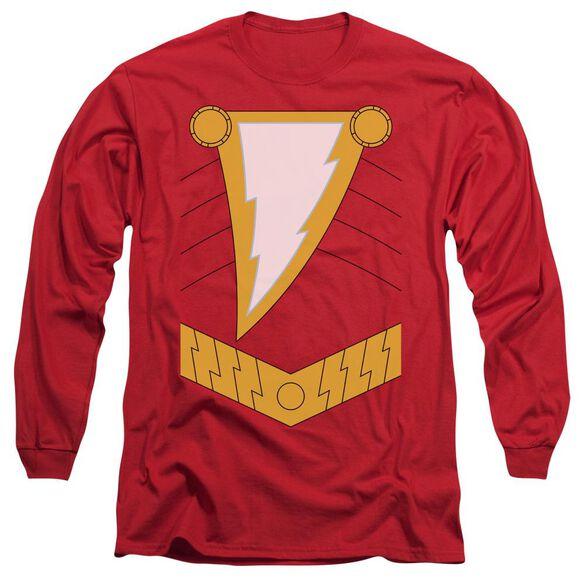 Jla Shazam Long Sleeve Adult T-Shirt