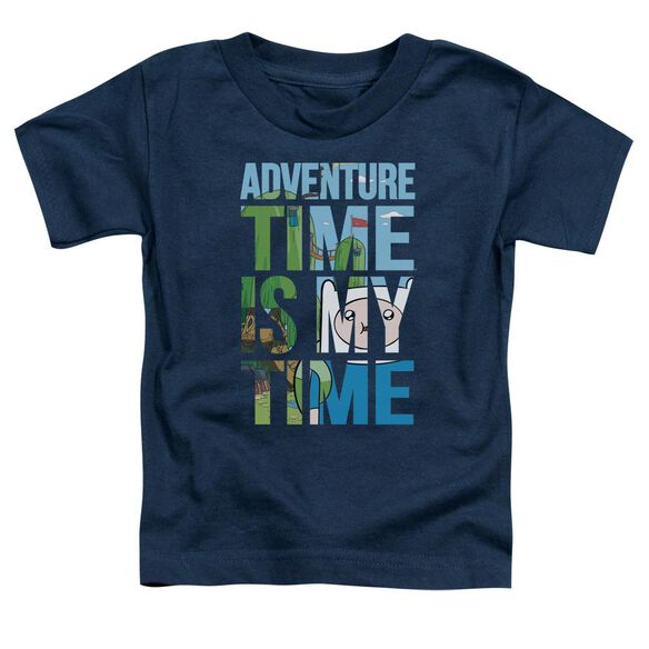 Adventure Time My Time Short Sleeve Toddler Tee Navy T-Shirt