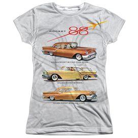 Oldsmobile Rocket Line Short Sleeve Junior Poly Crew T-Shirt