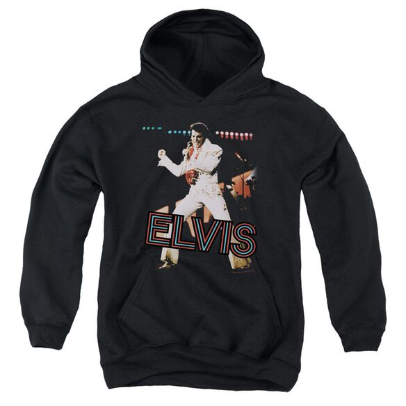 Elvis Hit The Lights Youth Pull Over Hoodie