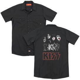 Kiss Rock The House(Back Print) Adult Work Shirt