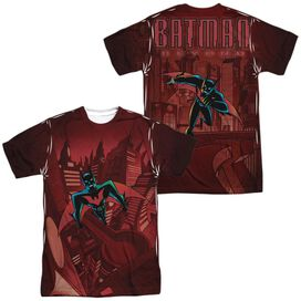 Batman Beyond Red Gotham (Front Back Print) Short Sleeve Adult Poly Crew T-Shirt