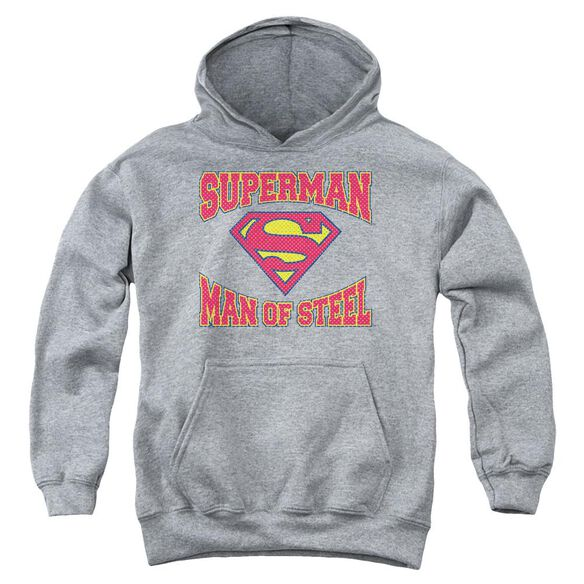 Superman Man Of Steel Jersey Youth Pull Over Hoodie