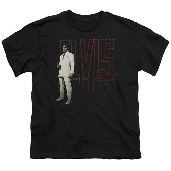Elvis White Suit Short Sleeve Youth T-Shirt