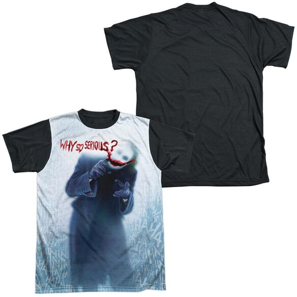 Dark Knight Why Short Sleeve Adult Front Black Back T-Shirt
