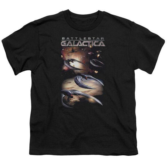 Battlestar Galactica (New) When Cylons Attack Short Sleeve Youth T-Shirt