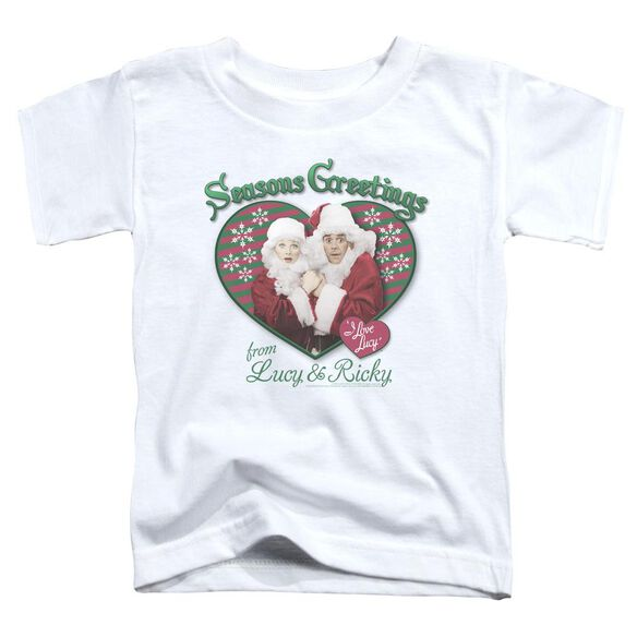 I Love Lucy Seasons Greetings Short Sleeve Toddler Tee White T-Shirt