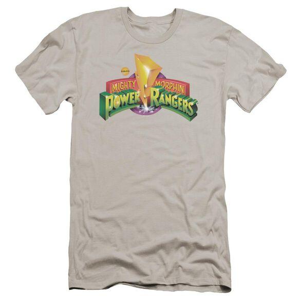 Power Rangers Mmpr Logo Premuim Canvas Adult Slim Fit