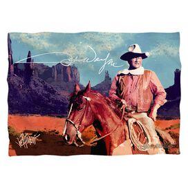 John Wayne Monument Man Pillow Case White