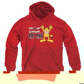GARFIELD CAT MAN-YOUTH PULL-OVER HOODIE