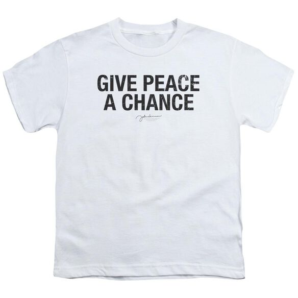 John Lennon Give Peace A Chance Short Sleeve Youth T-Shirt