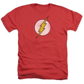 Dc Flash Flash Logo Distressed Adult Heather