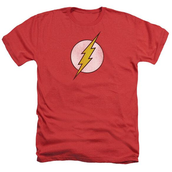 Dc Flash Flash Logo Distressed Adult Heather