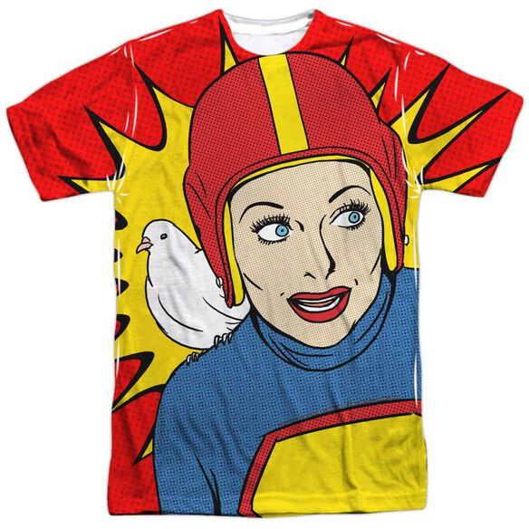 I Love Lucy Super Lucy Short Sleeve Adult Poly Crew T-Shirt