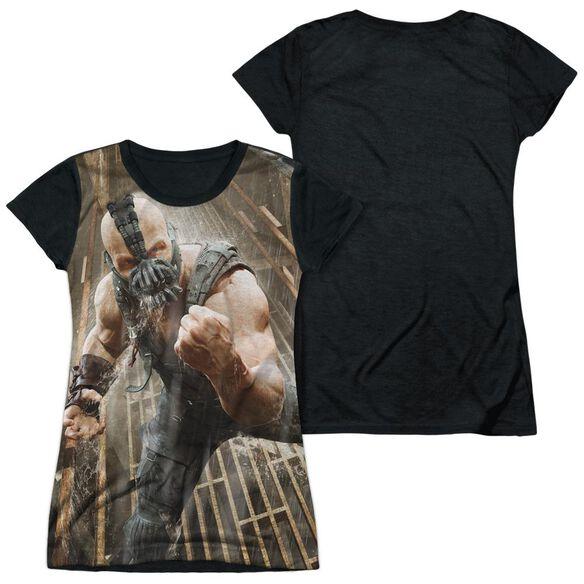 Dark Knight Rises Rain Rage Short Sleeve Junior Poly Black Back T-Shirt