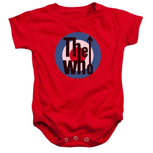 The Who Logo Infant Snapsuit Red