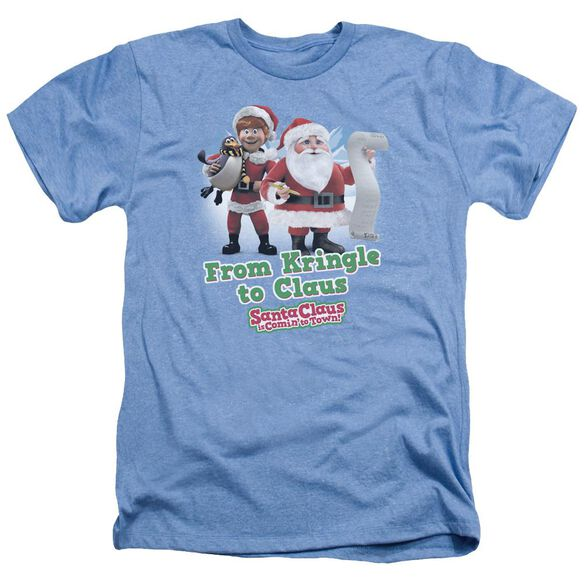 Santa Claus Is Comin To Town Kringle To Claus Adult Heather Light