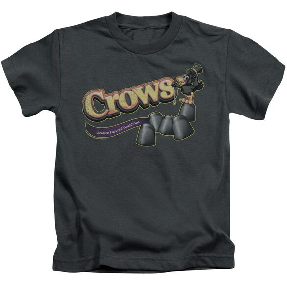 Tootise Roll Crows Short Sleeve Juvenile Charcoal T-Shirt