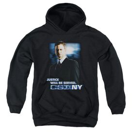 Csi:ny Justice Served-youth Pull-over Hoodie - Black