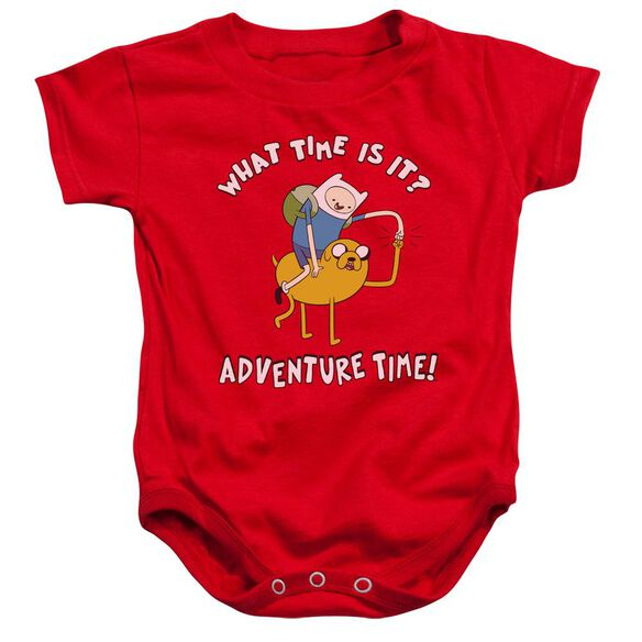 Adventure Time Ride Bump Infant Snapsuit Red