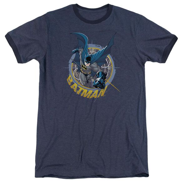 Batman In The Crosshairs Adult Heather Ringer Navy