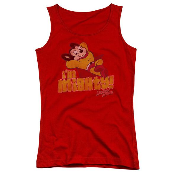 Mighty Mouse Im Mighty - Juniors Tank Top - Red