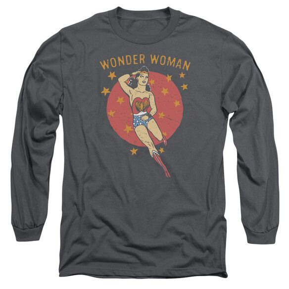 Dc Wonder Circle Long Sleeve Adult T-Shirt