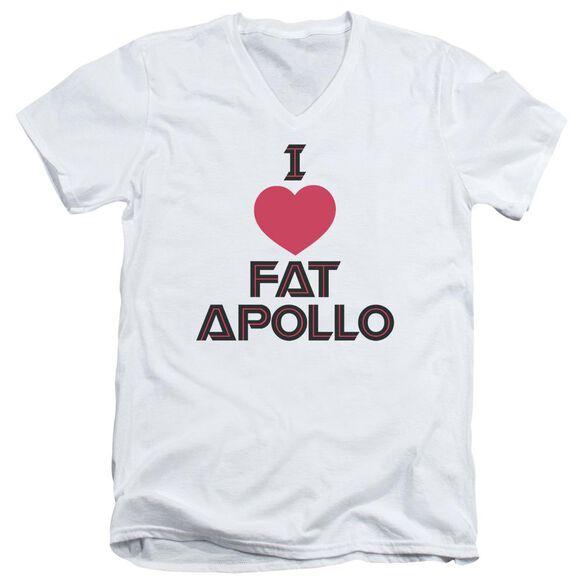 BSG I HEART FAT APOLLO - S/S ADULT V-NECK - WHITE T-Shirt