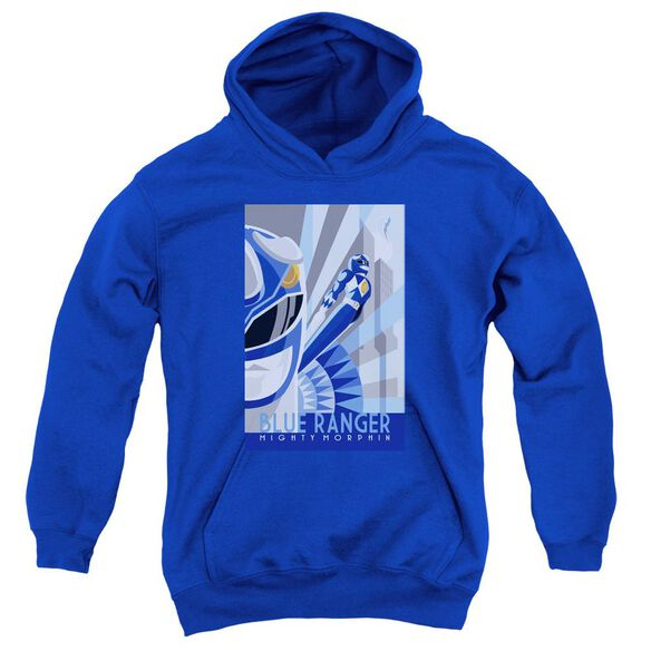 Power Rangers Blue Ranger Deco Youth Pull Over Hoodie