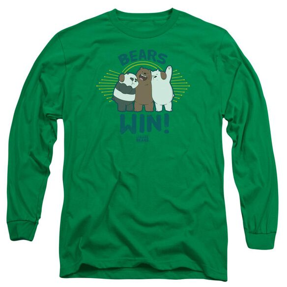 We Bare Bears Bears Win Long Sleeve Adult Kelly T-Shirt