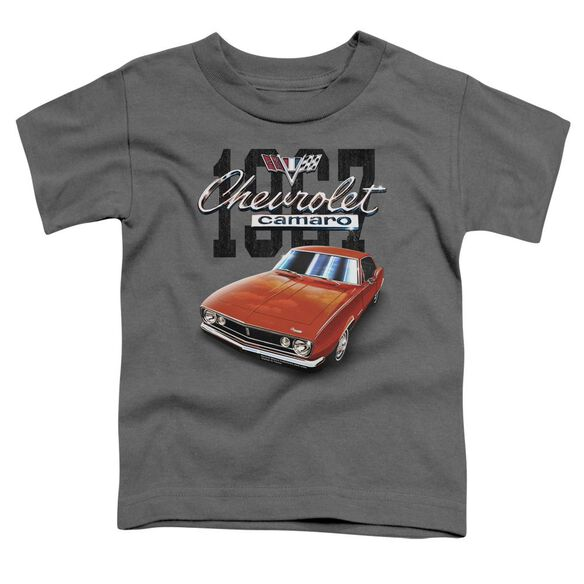 Chevrolet Classic Camaro Short Sleeve Toddler Tee Charcoal T-Shirt