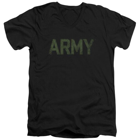 Army Type Short Sleeve Adult V Neck T-Shirt