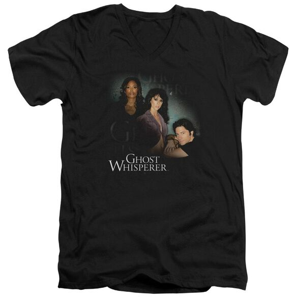 Ghost Whisperer Diagonal Cast Short Sleeve Adult V Neck T-Shirt