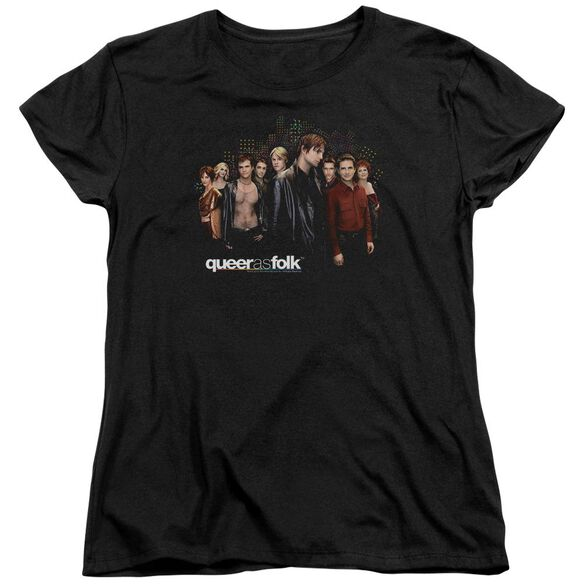 Queer As Folk Title Short Sleeve Womens Tee T-Shirt