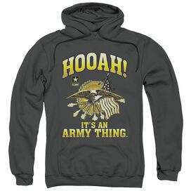 Army Hooah Adult Pull Over Hoodie