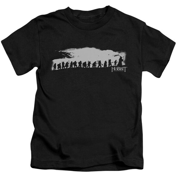The Hobbit The Company Short Sleeve Juvenile Black Md T-Shirt