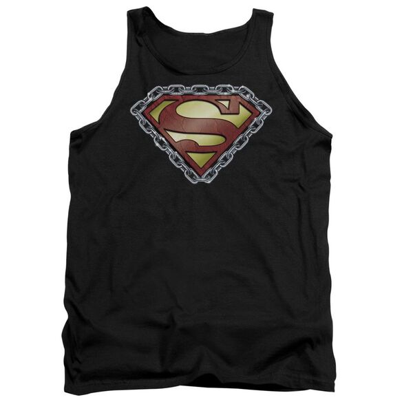 Superman Chained Shield Adult Tank