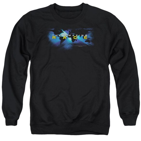 Amazing Race Faded Globe Adult Crewneck Sweatshirt