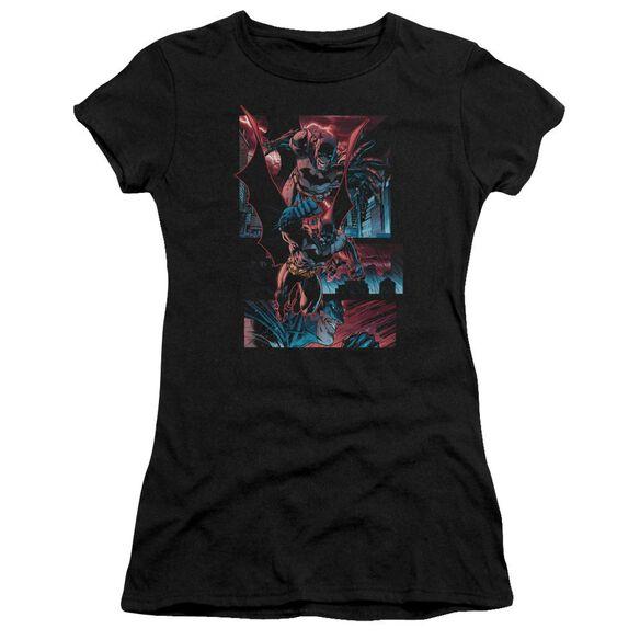 Batman Dark Knight Panels Short Sleeve Junior Sheer T-Shirt