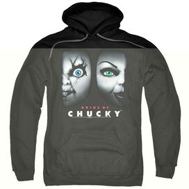 BRIDE OF CHUCKY HAPPY COUPLE - ADULT PULL-OVER HOODIE - Black