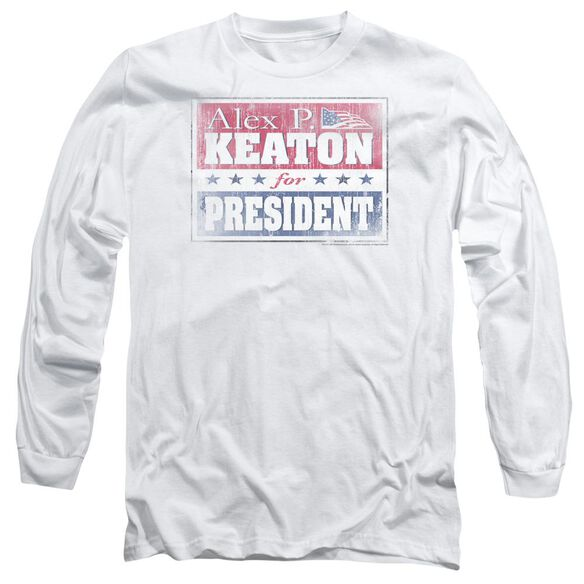 FAMILY TIES ALEX FOR PRESIDENT - L/S ADULT 18/1 - WHITE T-Shirt