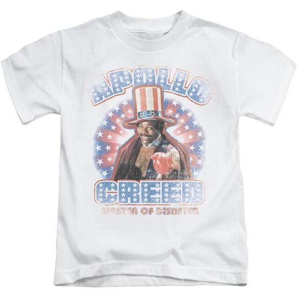 Rocky Apollo Creed Short Sleeve Juvenile White T-Shirt