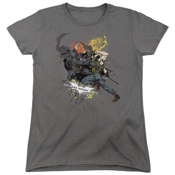Dark Knight Rises Fight For Gotham Short Sleeve Women's Tee T-Shirt