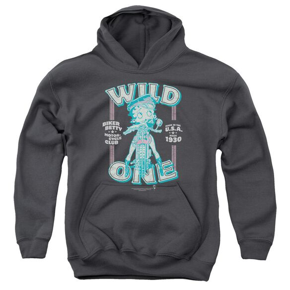 Betty Boop Wild One Youth Pull Over Hoodie