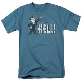See You In Hell Short Sleeve Adult Slate T-Shirt