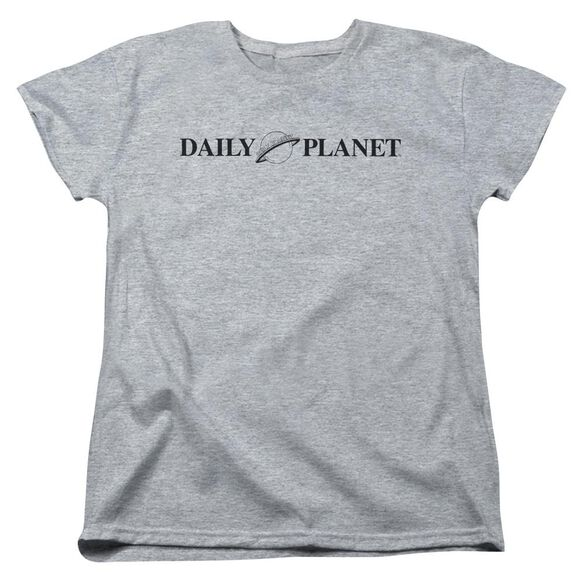 Superman Daily Planet Logo Short Sleeve Womens Tee Athletic T-Shirt