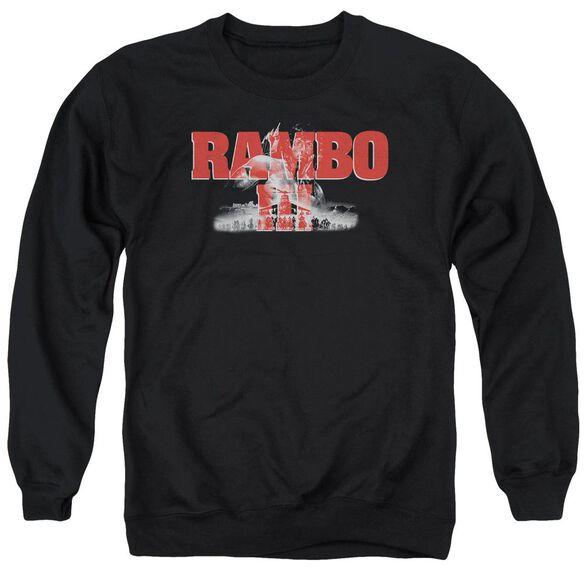 Rambo Iii John Rambo Adult Crewneck Sweatshirt