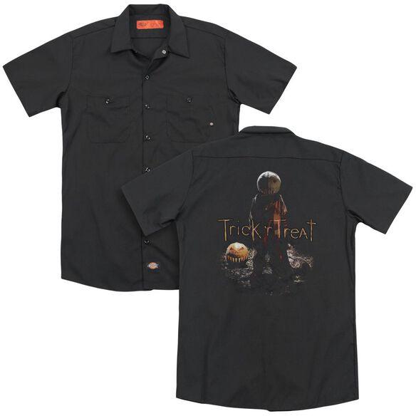 Trick R Treat Samhain (Back Print) Adult Work Shirt
